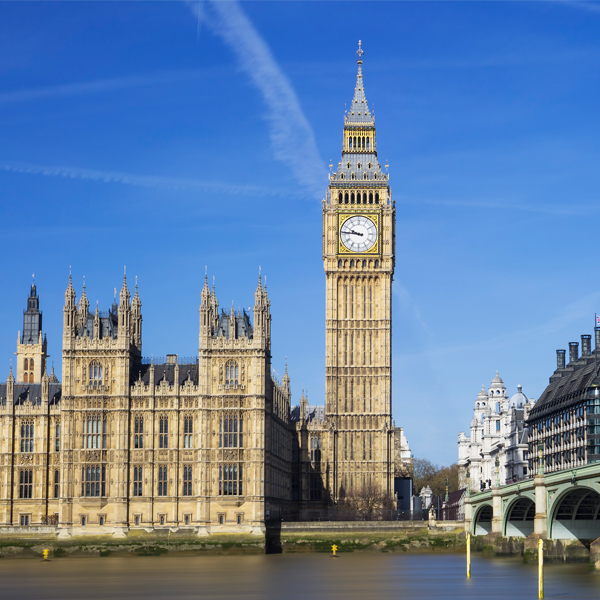 Big Ben and the houses of parliament - the gunpowder plot