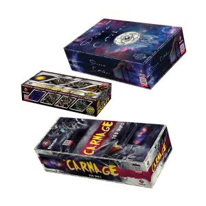 Compound Fireworks, also known as compound cakes are fantastic, with only one fuse to light you can sit back and enjoy, they are nicknamed Displays in a box for a good reason!