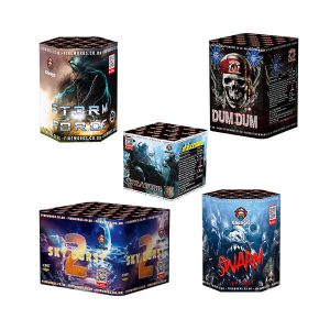 Single ignition fireworks also known as barrage cakes or single ignition cakes are multi shot cakes with one fuse