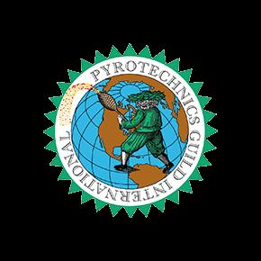 fireworks organisation logo for the pyrotechnics guild international
