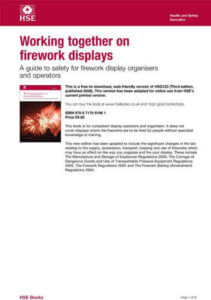 Working together on firework safety displays leafelet from HSE
