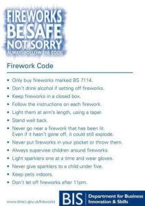 Fireworks code leafelet by BIS