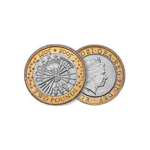 The pemember coin a Gunpowder Plot commemorative £2 coin from the royal mint with a minting error