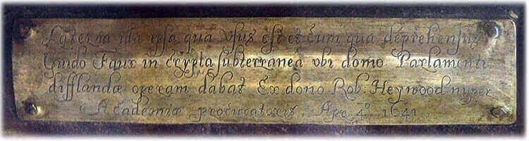 the inscription on the lantern allegedly used by guy fawkes