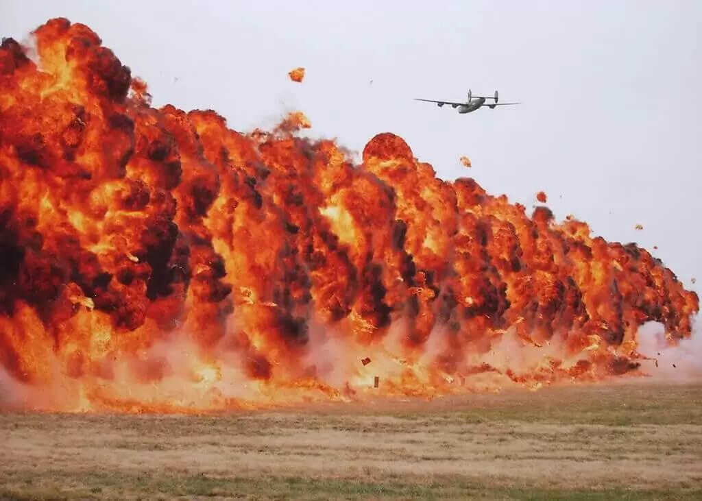 War ReEnactment at Headcorn Aerodrome in Kent, RC Model Planes, Huge aerial Fireballs and Pyro Explosions by Ghengis Fireworks