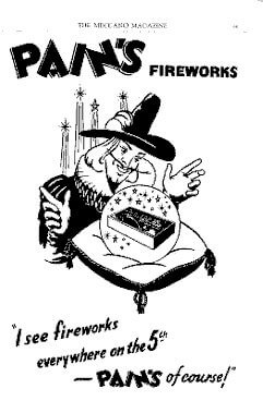 learn about how fireworks were advertised in the past at ghengis fireworks