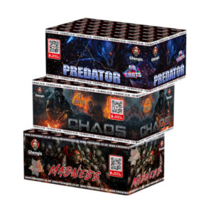 3 fireworks for one great price Madness, predator & Chaos sibs