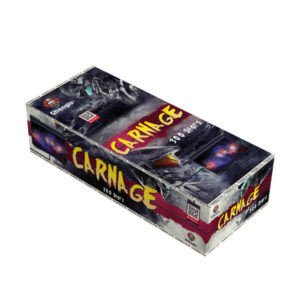 carnage is a brand new compound firework with 300 shots
