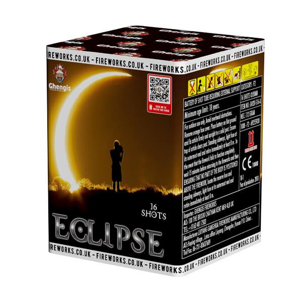 eclipse 16 shot colourful garden fireworks