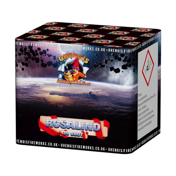 Rosalind is a small to medium 30 shot garden firework with varying effects and lots of colours