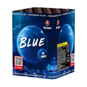 blue is the perfect gender reveal firework with 25 shots
