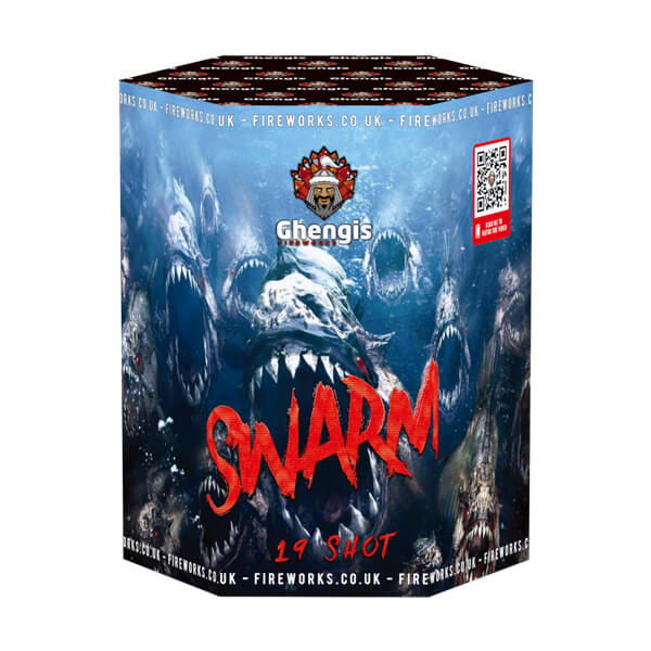 Swarm is one of our 19 shot cake from our single ignition fireworks range, ideal for birthday and Halloween its available to buy online from our firework shop