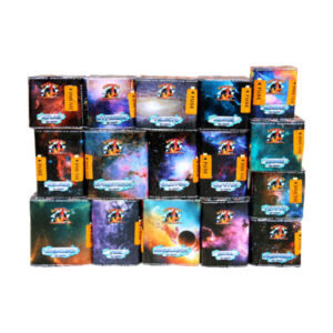 Saturn 2 is the largest barrage pack that we offer with its 16 single ignition firework cakes theres some thing for every one in this garden firework pack.
