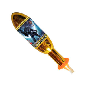 Notorious is a 190 gram large rocket from our firework rocket range and can be found in the big rockets category.