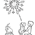Childrens Firework Colouring Pages bonfire night image two by ghengis fireworks